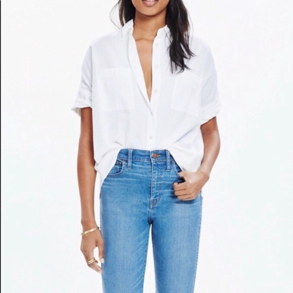 Madewell Tops - Madewell White Courier Shirt